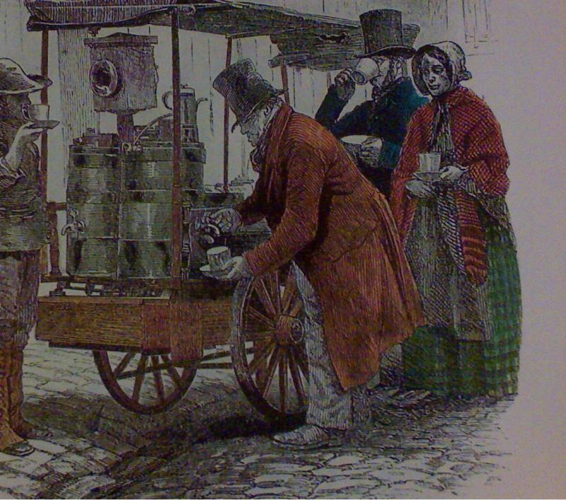 Street Coffee Vendor in London (around 18th Century)