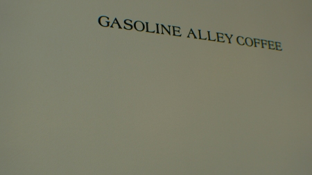 Typeface for the Gasoline Alley Coffee Shop / Bowery, New York, NY