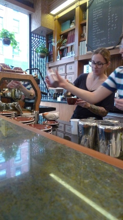 Bariste at Work, Stumptown Coffee Roasters West 8th, New York, NY / Leica D-Lux 4