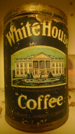White House Coffee - Dwinell-Wright Company / found at Cupcake Café, New York, NY / Leica D-Lux 4