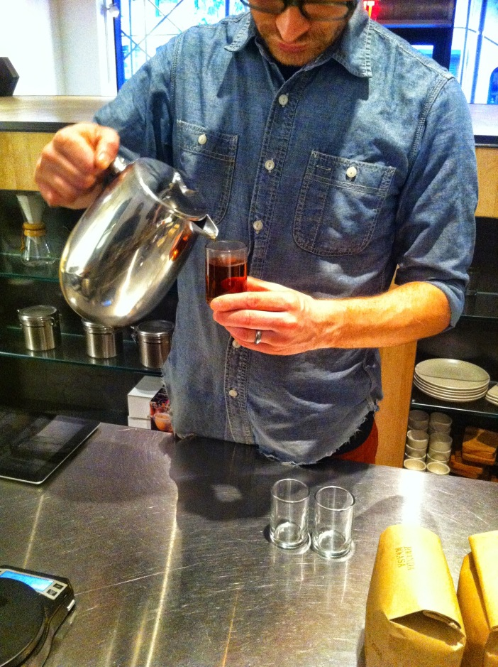 Quishr or Cascara, served at the Siphon Bar from Blue Bottle Coffee, Chelsea, New York, NY / iPhone 4