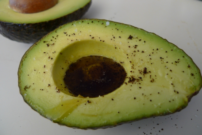 Avocado with coffee, olive oil, pumpkin seed oil and whichever spices your palate desires / Leica D-Lux 4