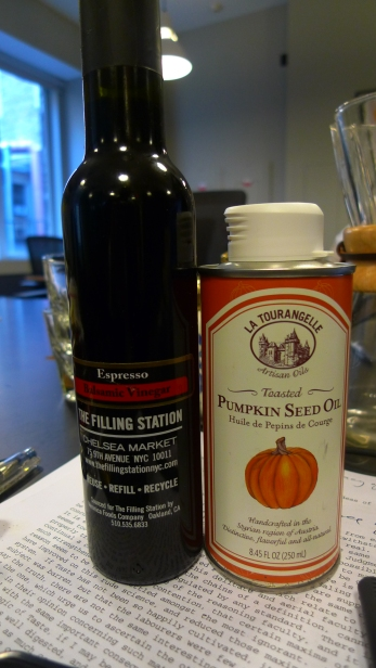Espresso Balsamic Vinegar and Pumpkin seed oil / Leica D-Lux 4
