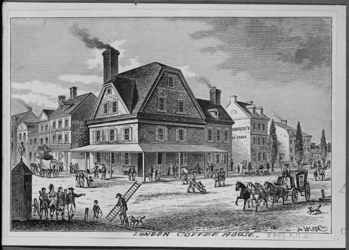 The London Coffee House - grounded in 1754 / Philadelphia, PA / Foto: public domain