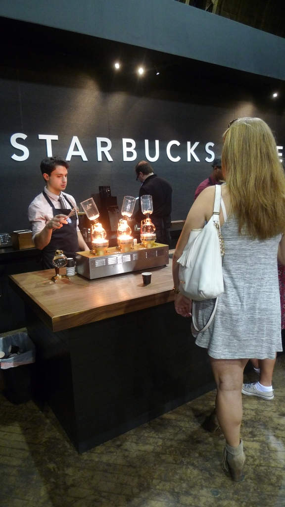 A Siphon station at the Starbucks Reserve stand / New York Coffee Festival, New York, NY / Leica D-Lux 4